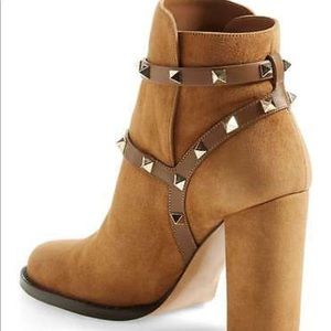 Valentino Shoes - Valentino Rockstud Suede Ankle Boots